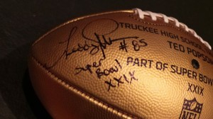 Gold Football Signed by Popson