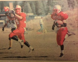 Dave DeCoite, a sophomore, runs for the score
