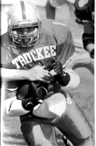 James Van-Brunt lead the state in rushing yards (2,337), touchdowns (38) and 6 games of 200 yards or more. He also owns many of the all-time school records at Truckee.
