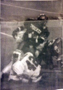 The play of the game in which the refs said Van-Brunt had fumbled.