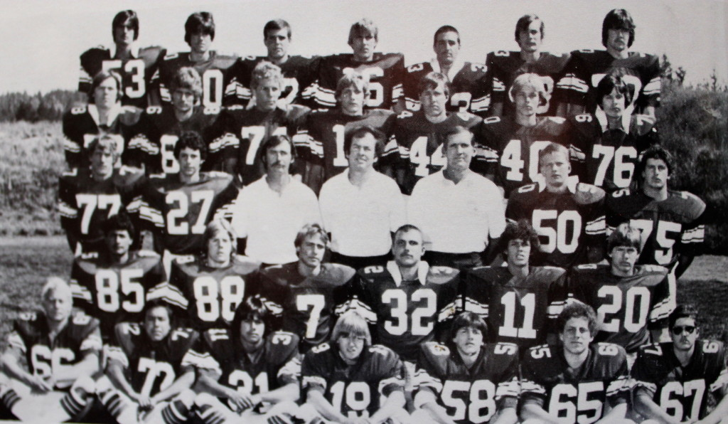 Front Row: Ric Davey, Jesus Avila, Carl Long, Mike Waldo, Steve Flanagan, Andy Smith, Todd Tamiette; Second Row: Sam Brenes, Jerry Bellon, Peter Engelhard, Kym Milisci, Dave Ariza, John Francis; Third Row: Teddy Raber, Brian Smith, Coach Brolliar, Coach Barrett, Coach Curtis, Todd Whalley, Darryel Higginbotham; Forth Row: Alroy Waters, Ron Jackson, Rex Bergsma, Tommy Hall, Pat Callahan, Mark Bilstein, Herbie Hodges; Back Row: Kirk Goodere, Brian Peoples, Rob Buccieri, Daren Rudicel, Mike Whan, JC Bright, Jerry Krug