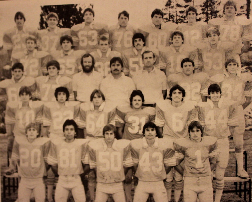 Front Row: Paul Dalbol, Armando Nerverez, Daryl Faiferek, Jerry Gervais, Mike Landis; 2nd Row: Win Crowell, Nick Cruz, Paul Funk, Darin Shoop, Tim Hassler, Steve Laiblin; 3rd Row: Sean Galli, Mike Streeter, Coach Mckillop, Coach Cunningham, Coach Curtis, Rob Collins, Brian Illes; 4th Row Shawn Ward, Bob Womack, Rick Neptune, John Adams, Garret Ashworth, Dennis Morin; Back Row: Bill Cranston, Darin Veliquette, Bret Churchman, Eric Munson, Dean Michaels, Andrew Long, Eric Comstock