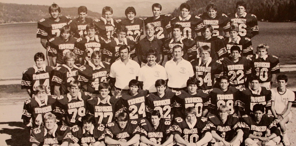 Front Row: Chris Beckman, Chuck Morris, Chris May, Greg Pohler, Ron Collins, Pat McKecknie, Armando Nevarez; 2nd Row: Marty Graham, Travis Kissinger, Mike Streeter, Chuck Smith, Dan Ivens, Tim Clark, Billy Powell, Alex Holtz; 3rd Row: Steve Laiblin, Mike Cooper, Gary Lawson, Coach Deschler, Coach Cunningham, Coach Curtis, Shane Smith, Nick Cruz, Corey Ray; 4th Row: Jim Duncan, Sean Thorne, Jason Estabrook, Dennis Morin, Mark Massari, Tom Larce, Win Crowell; Back Row: Eric Comstock, Andrew Long, Greg Schaaf, Al Salas, Brian Hadley, Dean Michaels, Keith Williams, Eric Munson