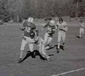 (12) Bob Trask tries to get the edge. Trask was Truckee's MVP as a junior