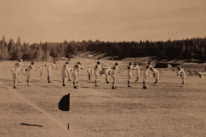 Truckee warmups. You can see the newly constructed I-80 off in the distance before the middle school was built