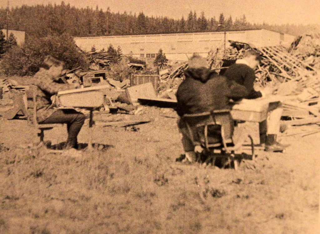 1968 An Art class sits in a junkyard for an assignment. Little did they know they were sitting on The Sacred Ground of Surprise Stadium
