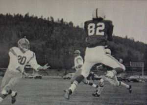 (82) Bob Lochridge picks off a pass vs South Tahoe