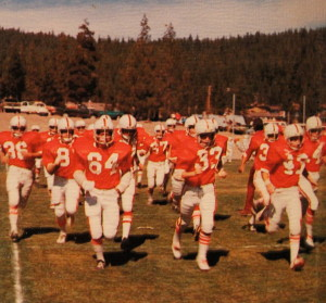 "The Wolverines take the field for the first ""Little Big Game"" which was also Homecoming in 74'."