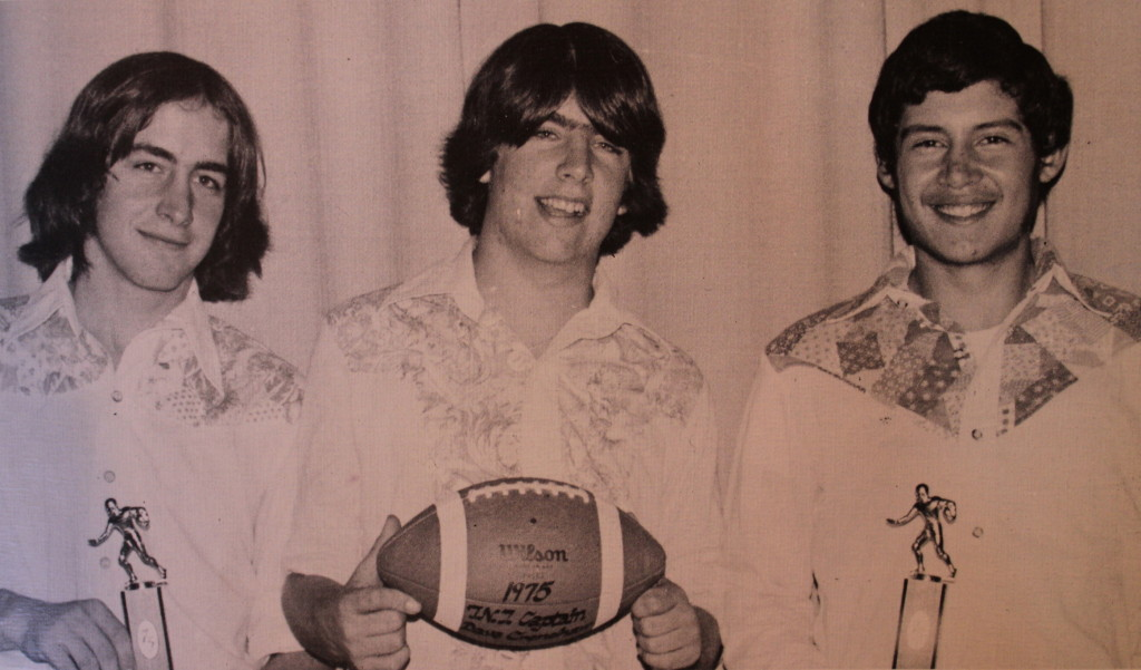 All-League selections 1975 (left to right): Jim Bevins, Dave Crenshaw, and Aldo Nevarez