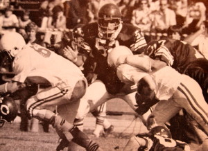(20) Rich Brown fights for yards at Colfax