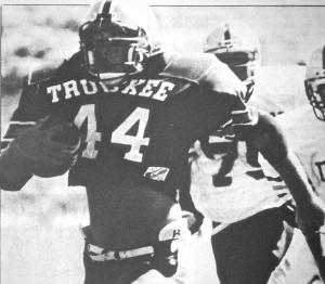 Jevon Hall breaks free for a 44-yard touchdown run versus the Dayton Dust Devils.