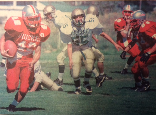 Kevin Kikawa broke out against Incline in 97, here he runs for a TD.