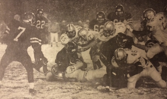 This gives you a sense of what the turf was like in the Spring Creek Game. Truckee shutout the State Champions 12-0 in 97