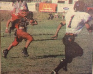 Rudy breaks away vs Fernley